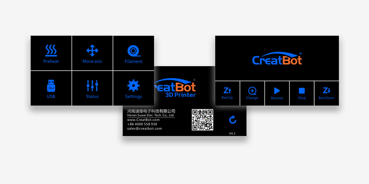 CreatBot D600 Touch Screen