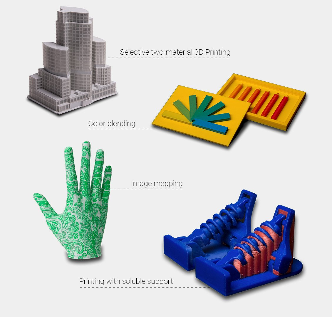 Advanced multi-material 3D printing