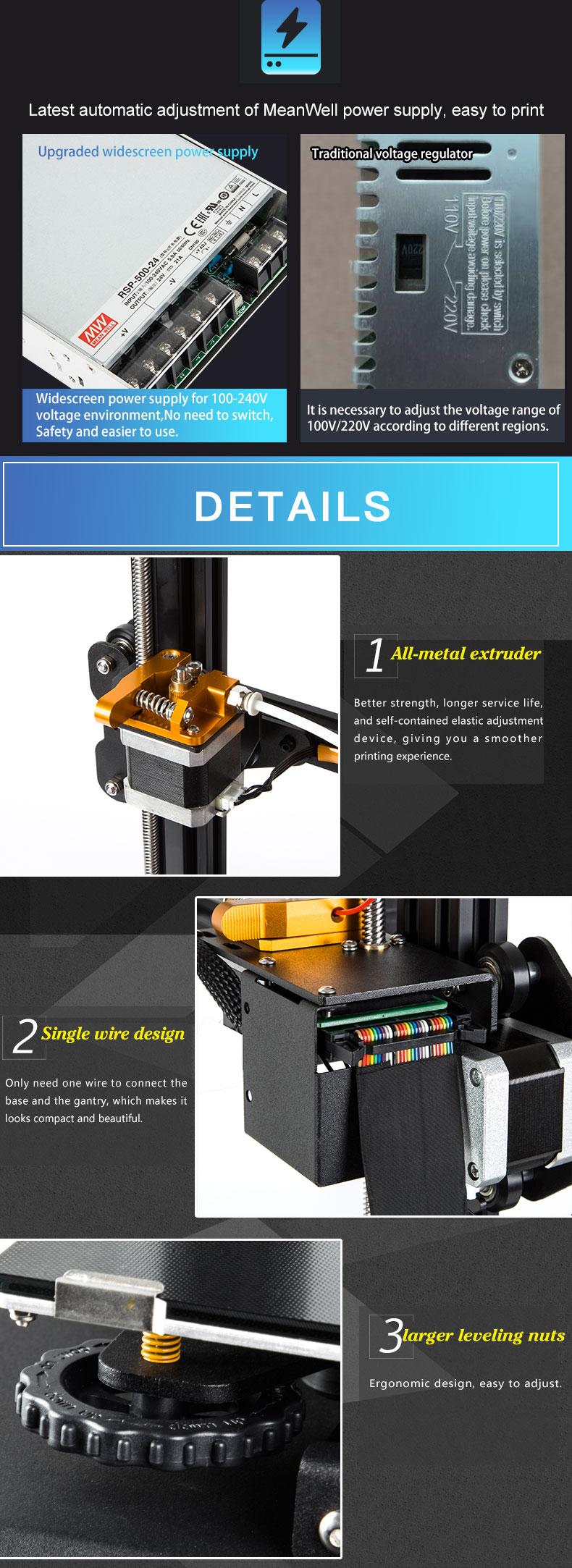 Creality3D CR-X hos SoluNOiD.dk - Meanwell PSU