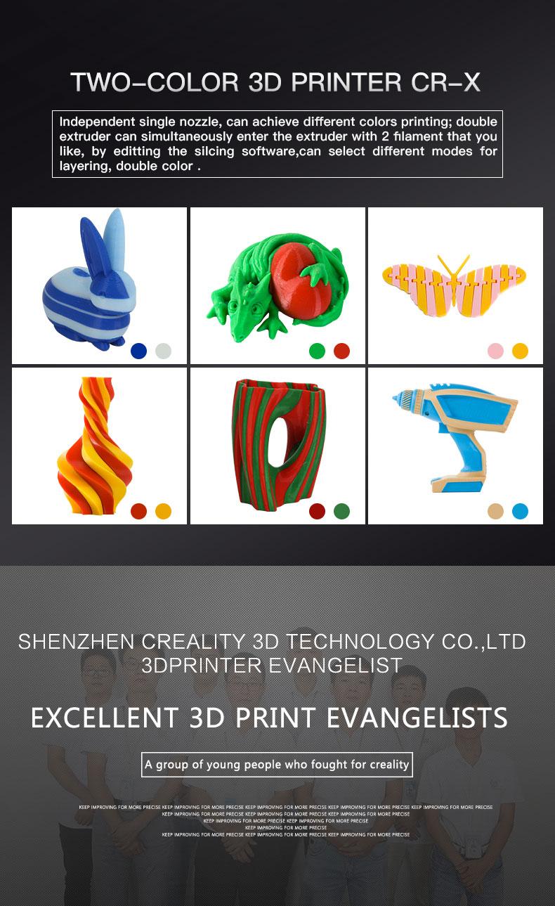 Creality3D CR-X hos SoluNOiD.dk. Dual color